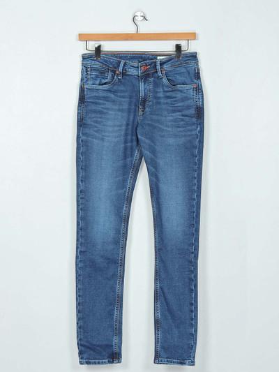 Killer blue washed mens jeans