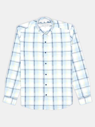 Killer cotton checks blue mens shirt
