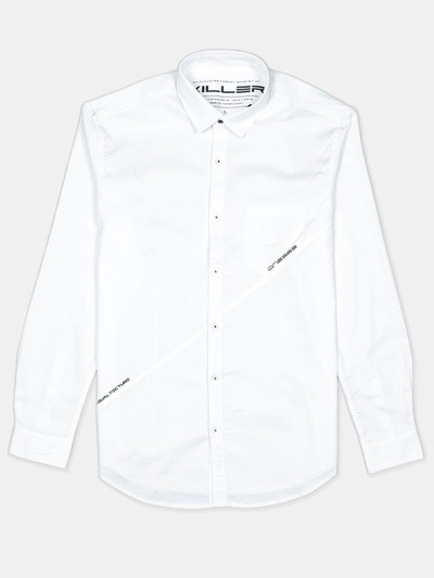 Killer cotton white solid casual shirt