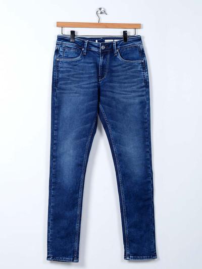 Killer dark blue skinny fit washed jeans