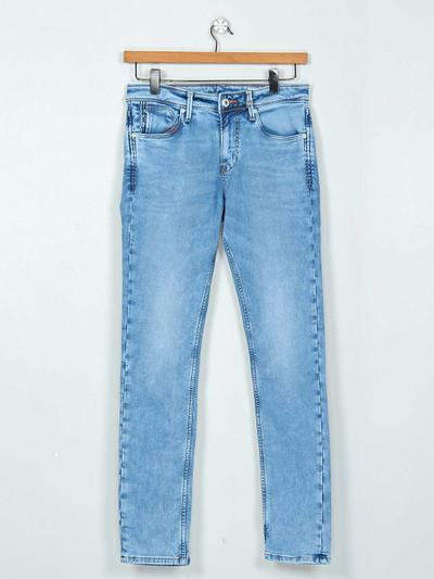 Killer washed blue mens slim fit jeans