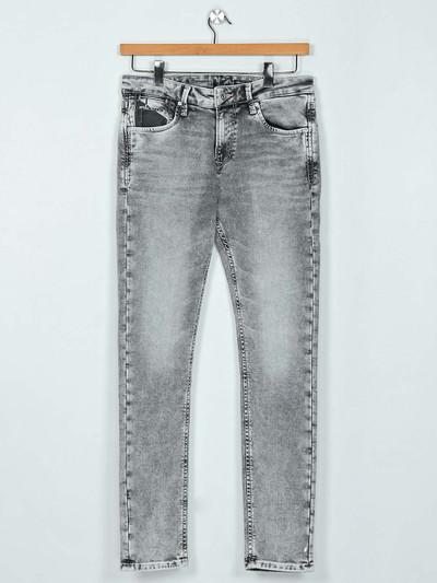 Killer washed light grey slim fit jeans