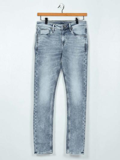 Killer washed light grey slim fit mens jeans