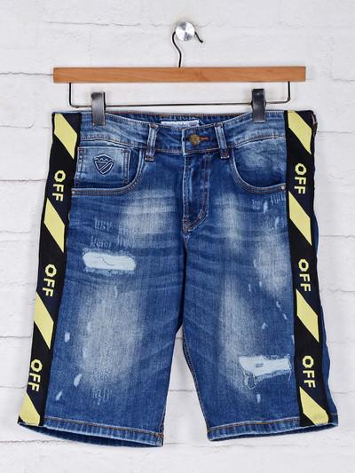 Kozzak mens blue denim shorts