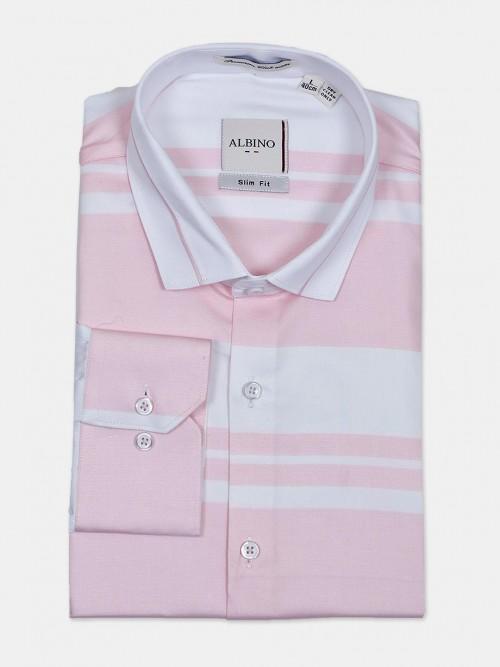 Albino Stripe Pink Formal Wear Shirt
