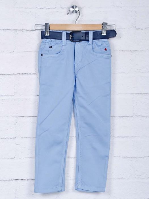 Bad Boys Sky Blue Denim Solid Jeans
