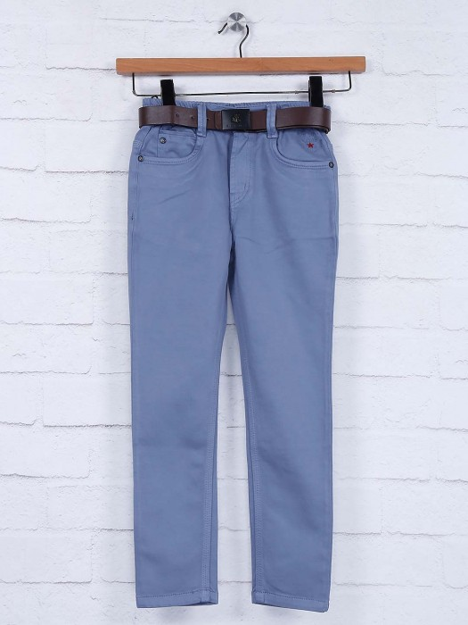 Bad Boys Solid Blue Elasticated Jeans