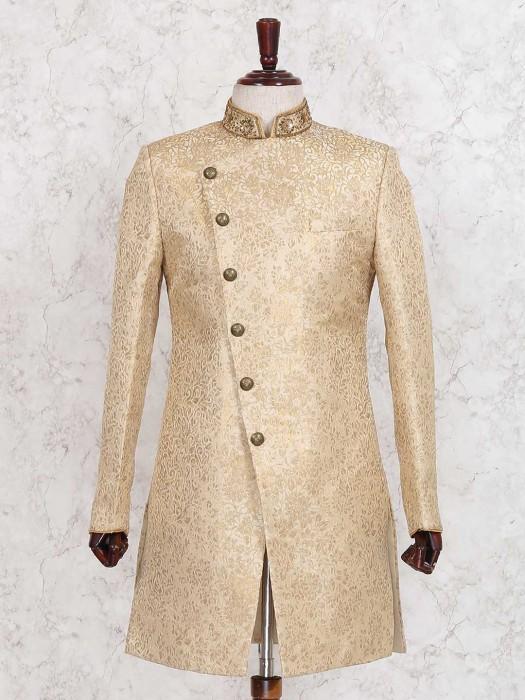 Beige Wedding Wear Indo Western