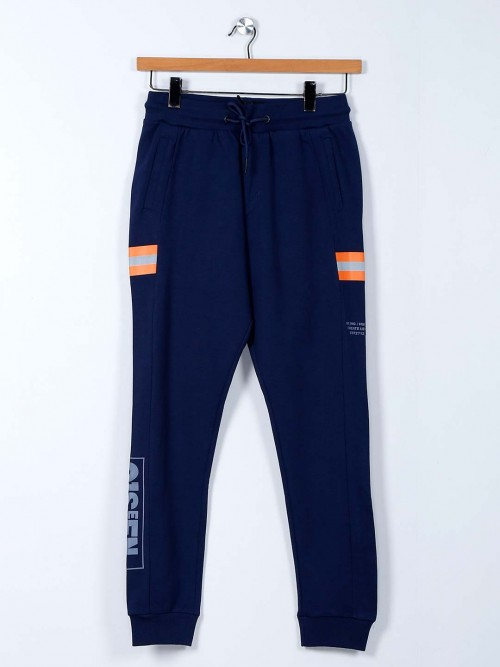 Being Human Blue Solid Night Track Pant