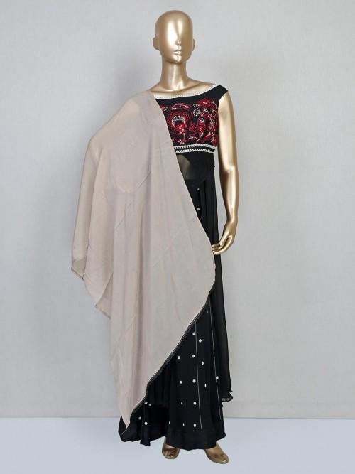 Black Georgette Palazzo Salwar Suit
