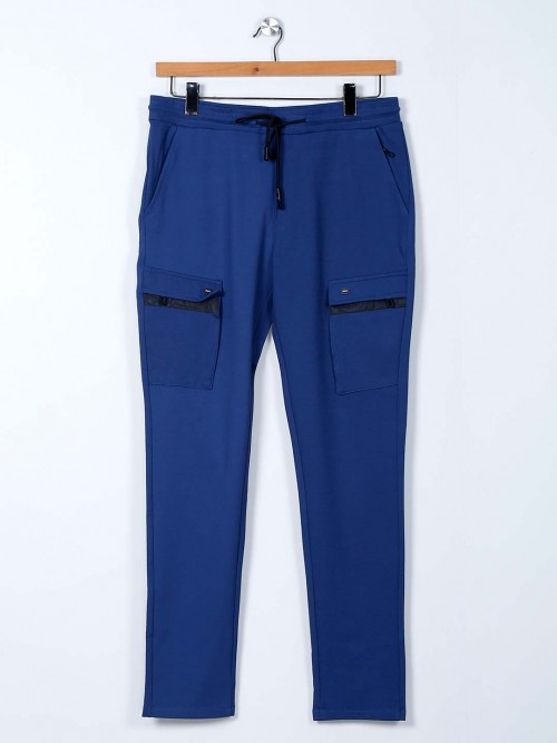 Cookyss Blue Cotton Track Pant