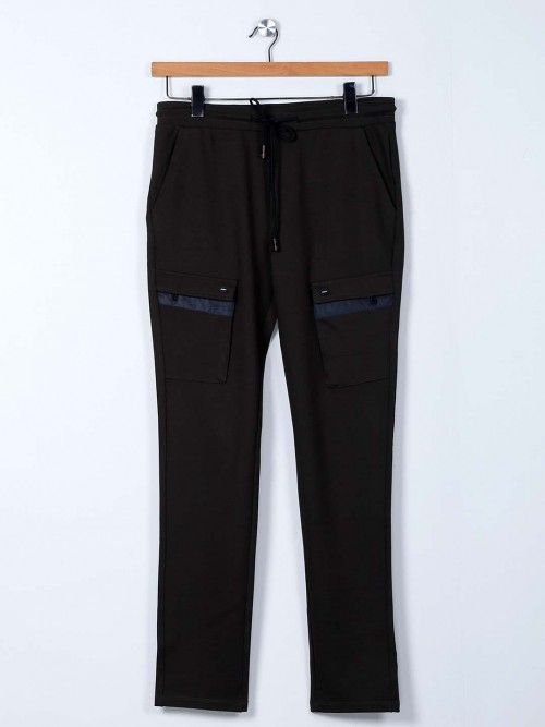 Cookyss Olive Cotton Night Track Pant