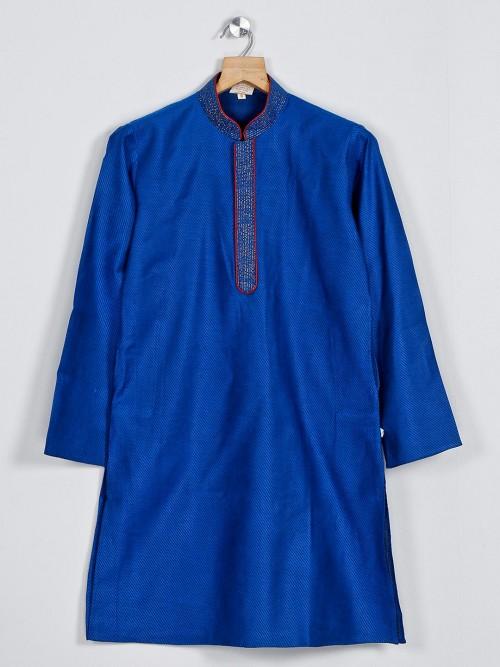 Cotton Blue Boys Kurta Suit For Festive