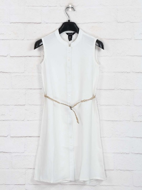 Deal White Cotton Casual Frock
