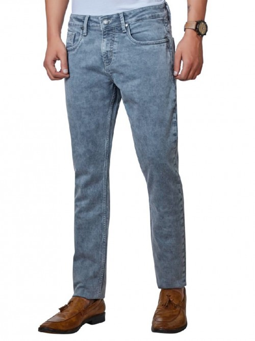 Dragon Hill Solid Grey Slim Fit Jeans