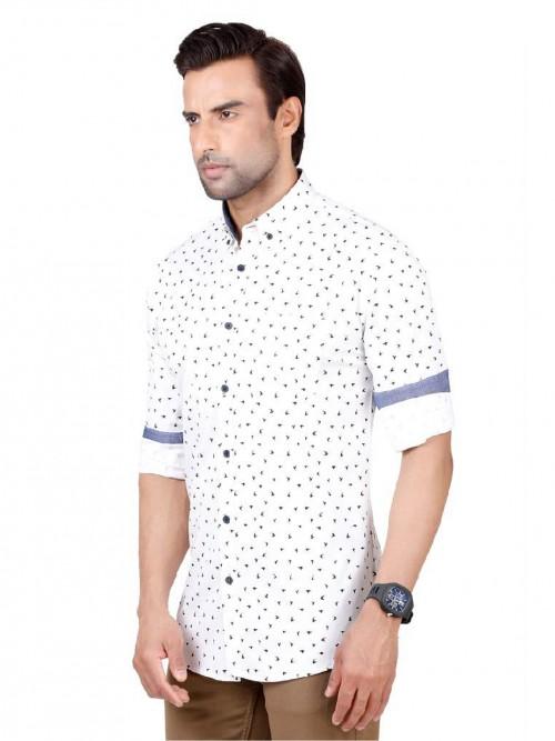 Dragon Hill White Printed Shirt