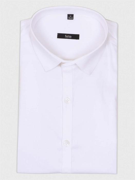 Fete Simple White Cotton Shirt