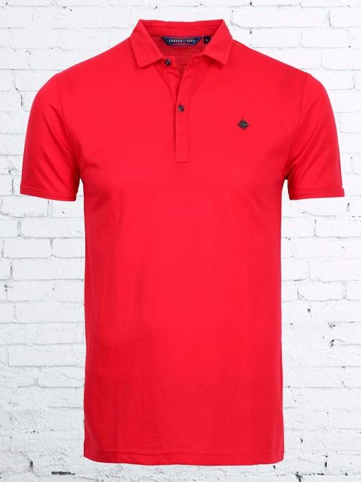 Freeze Magenta Plain Casual Wear T-shirt