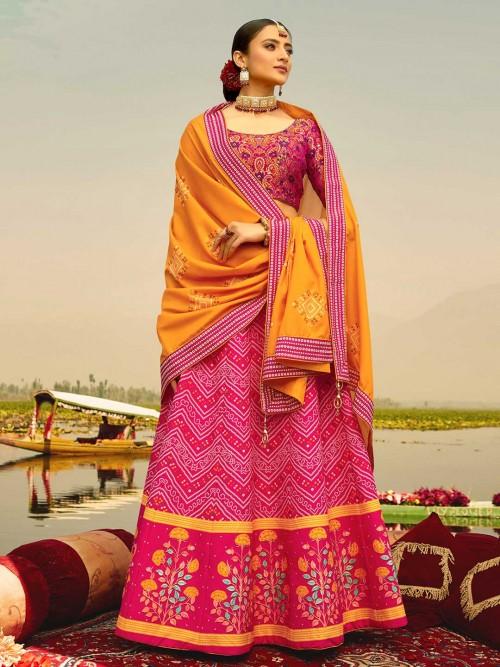 Gorgeous Magenta Festive Wear Readymade Lehenga Choli