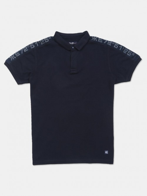Killer Cotton Slim Fit Men T-shirt In Navy