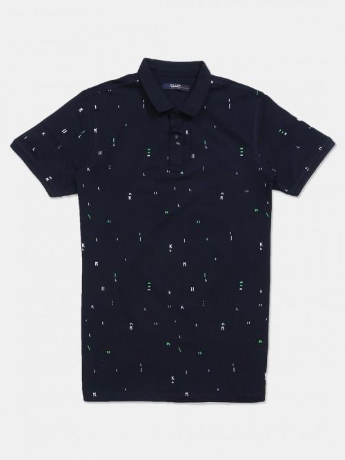 Killer Navy Cotton Slim Fit Mens T-shirt