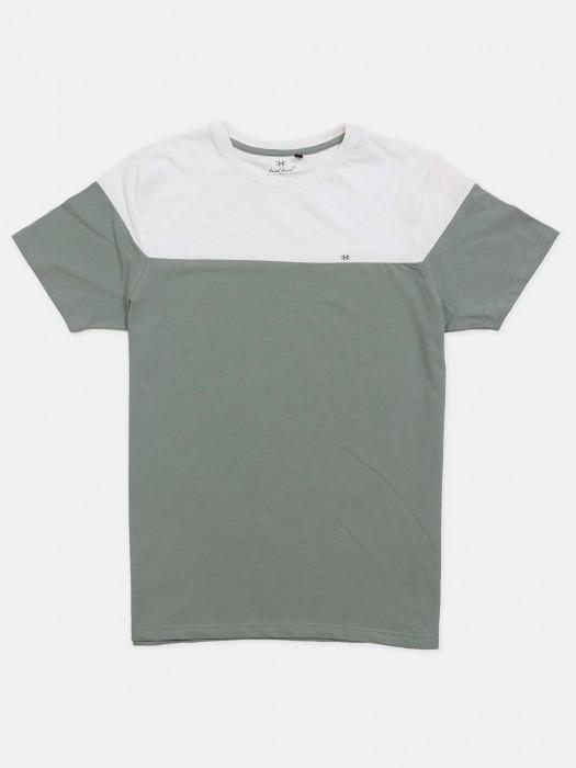 Kuch Kuch Olive And White Cotton T-shirt