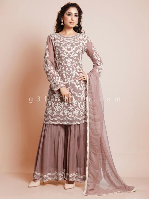 Latest Onion Pink Festive Wear Suit