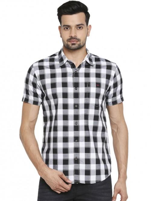 Mufti Black And White Checks Shirt