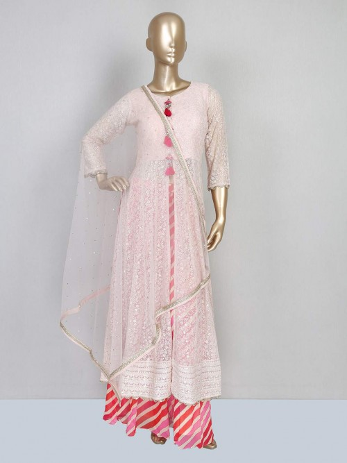 Pink Punajabi Georgette Designer Salwar Suit
