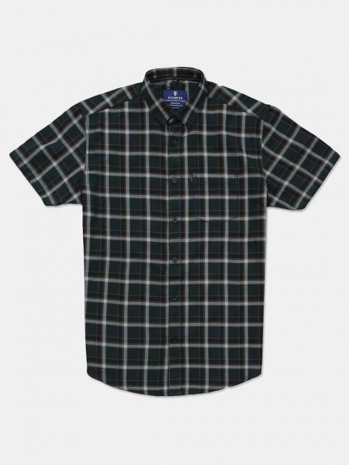 Pioneer Green Checks Shirt