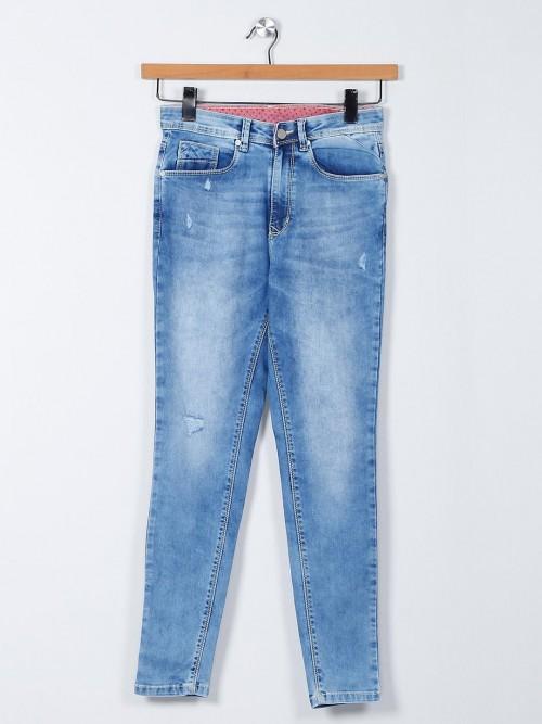 Recap Light Blue Denim Jeans For Casual Wear