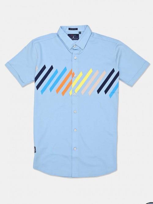 River Blue Presented Sky Blue Stripe Shirt