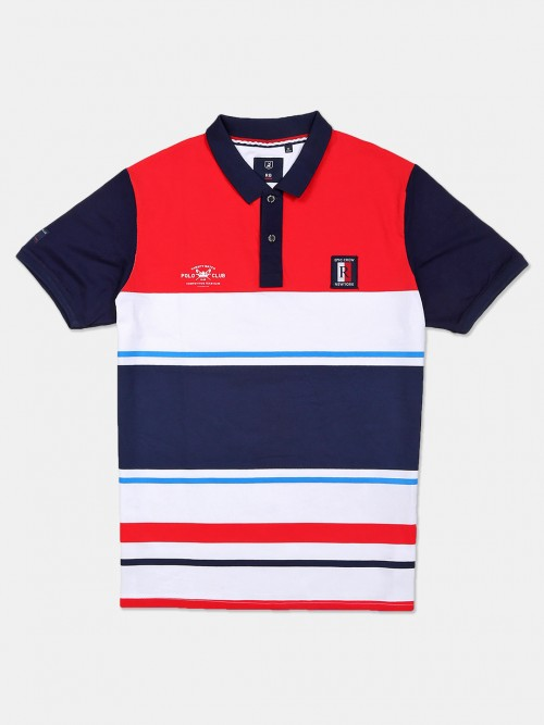 River Blue Red And White Stripe Classic T-shirt