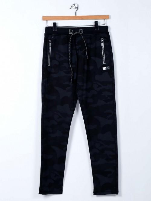 TYZ Grey Camouflage Cotton Track Pant