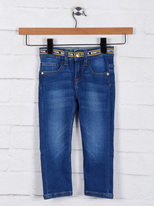 United Colors Of Benetton Blue Washed Jeans