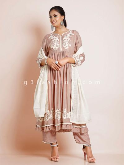 Latest onion pink georgette festive wear punjabi salwar kameez