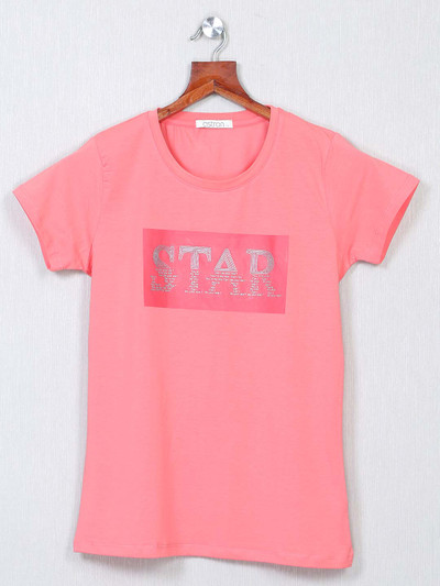 Latest casual wear pink cotton top