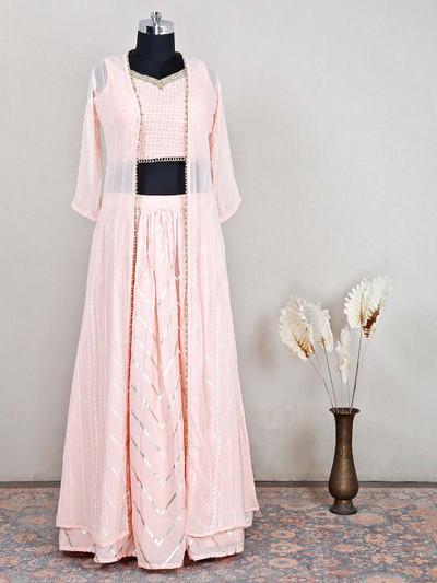 Latest grey cotton festive wear salwar kameez