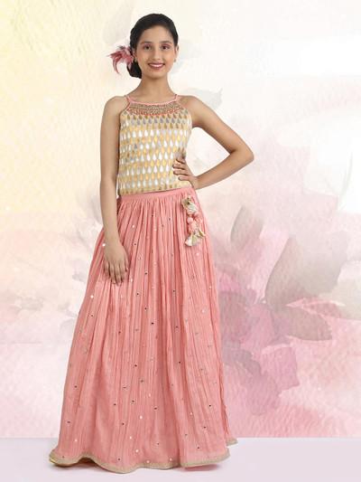 Latest pink wedding designer girls lehenga choli