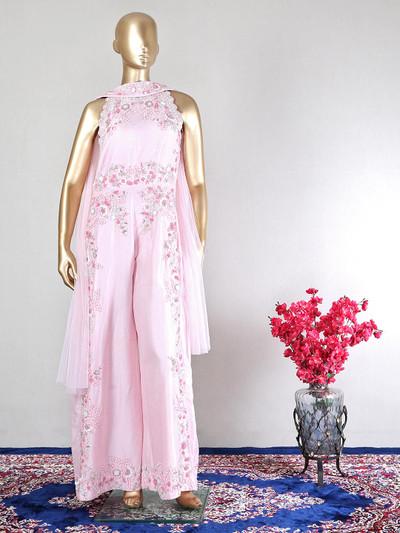 Latest pink wedding wear salwar kameez