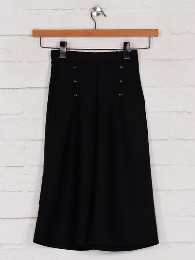 Leo N Babes black girls palazzo in cotton