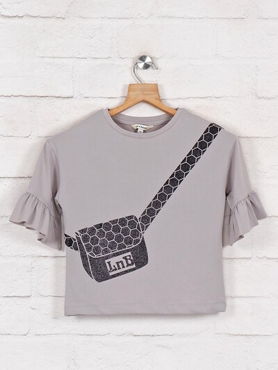 Leo N Babes casual cotton top in grey