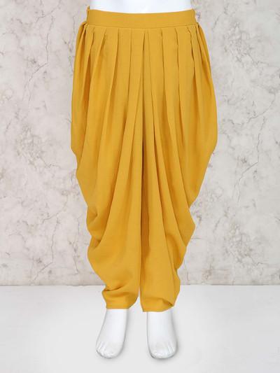 Leo N Babes orange hue girls dhoti in cotton