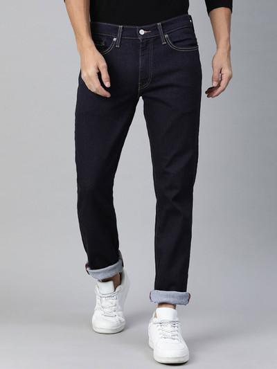 Levis 512 slim taper fit solid navy mens jeans