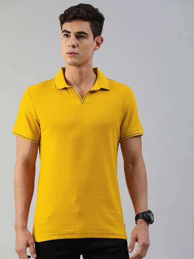 Levis yellow mens solid polo t-shirt