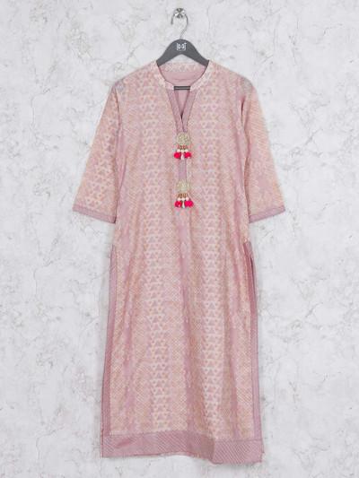 Light pink kurti in cotton