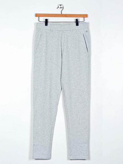 Maml grey solid cotton payjama