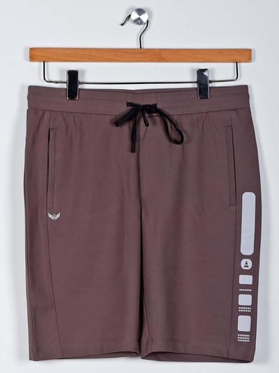 Maml slim fit walnut brown casual shorts