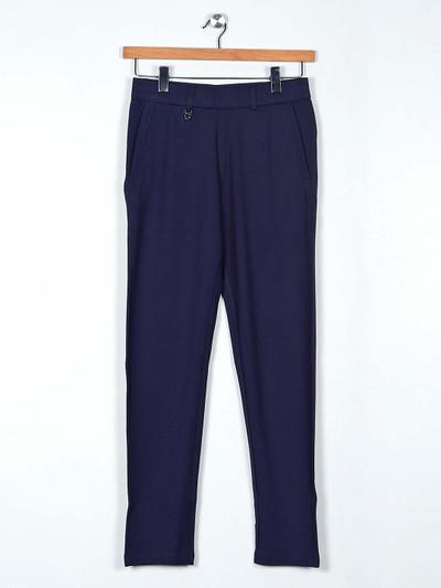 Maml solid navy payjama for men