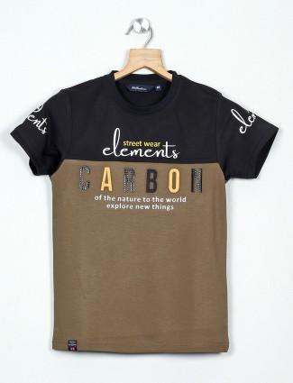 99 Balloon brown printed casual cotton t-shirt